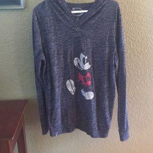 Disney Mickey black/grey light knit hoodie XXL
